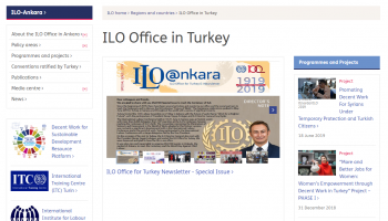 Our website moved to ILO Ankara